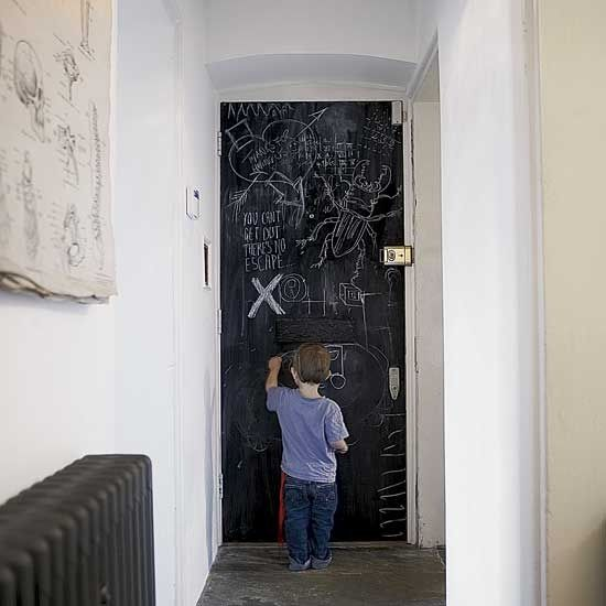 Hallway With Blackboard