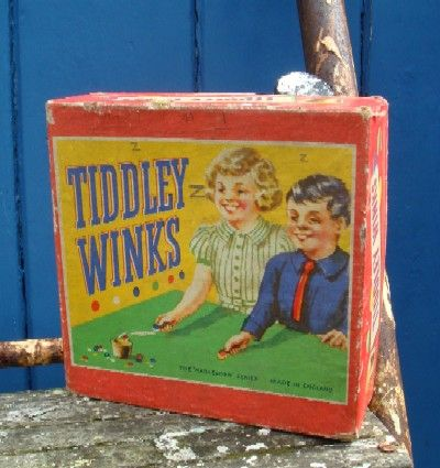Retro Vintage 1950s Childrens Tiddley Winks Game This