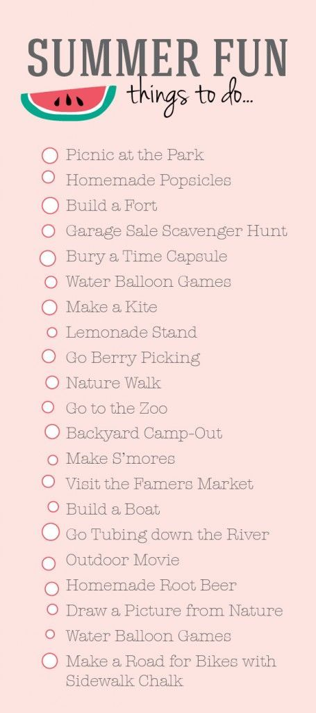 summer bucket list - fun family activities