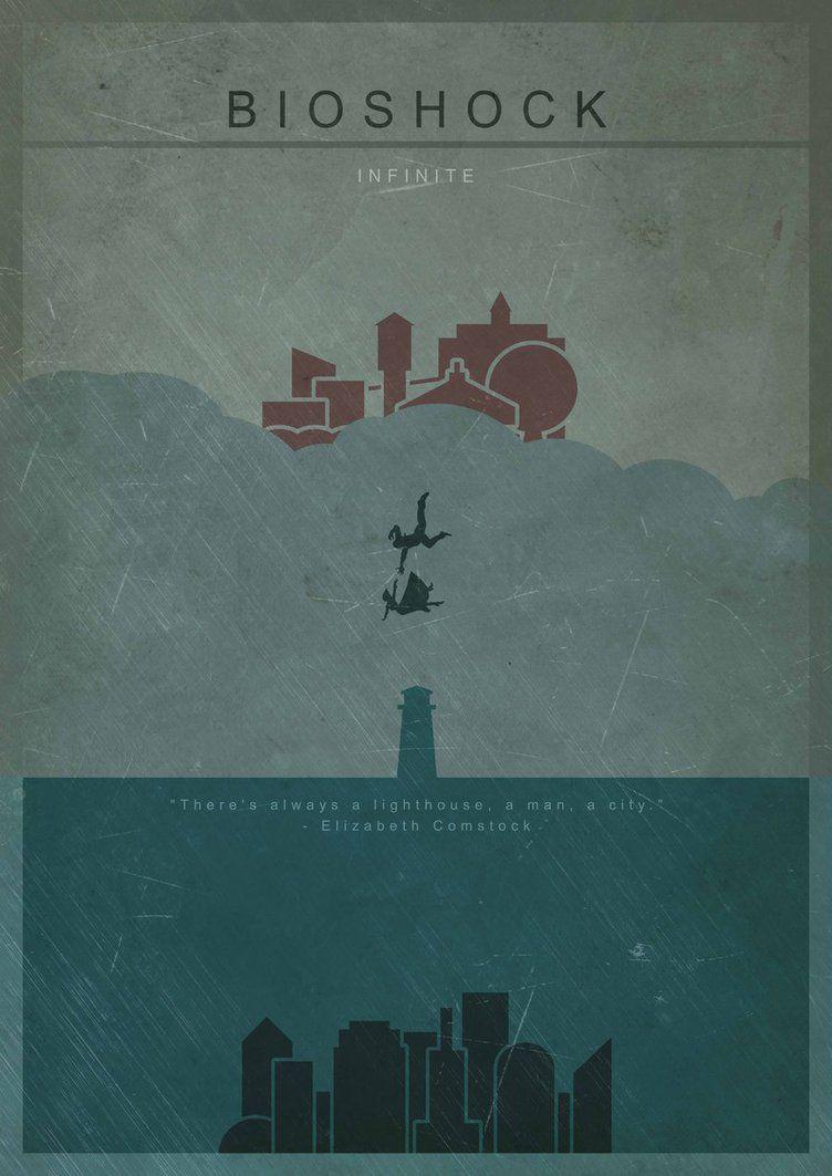 Bioshock Infinite Minimalist Fan Art Poster By Marsrsa Plakat Fan Art Igrovye Arty