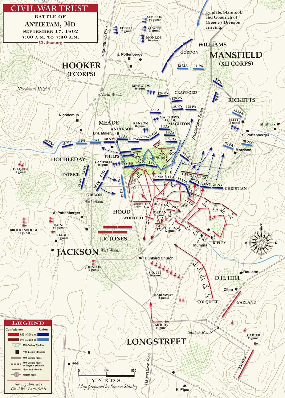 Fight for the Cornfield September 17, 1862   Civil War Maps ...