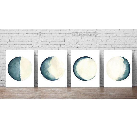 Full Moon Poster Schlafzimmer Wand Dekoration Abstrakte Mond