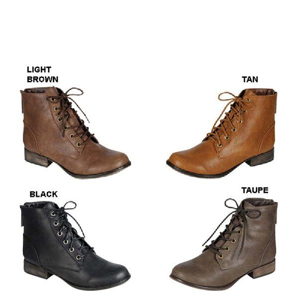 bff5feb53b313 Breckelle's GEORGIA-43 Women's Lace Up Back Zipper Military Ankle Booties,  Color:LIGHT BROWN, Size:9