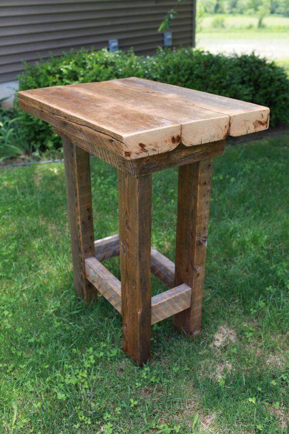 Barn Wood Pub Table Farmhouse Style Furniture FREE   Etsy ...