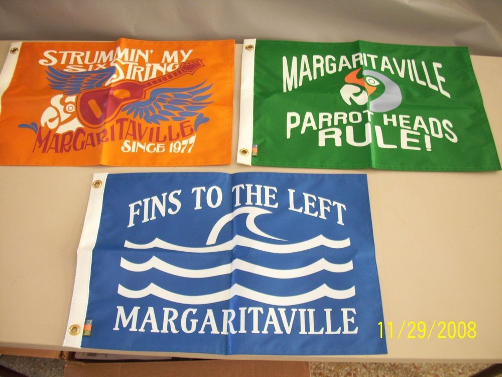 NEW JIMMY BUFFETT MARGARITAVILLE 3 Flag Set  e12e97aa0096