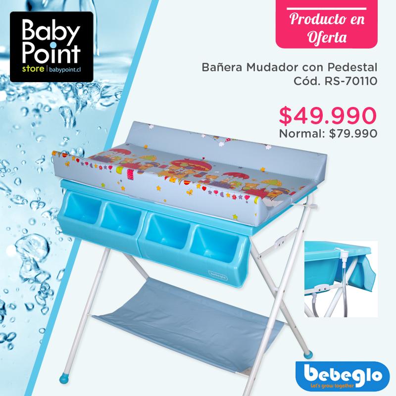 Comodidad y seguridad para bañar a tu bebé! Esta bañera - mudador ...