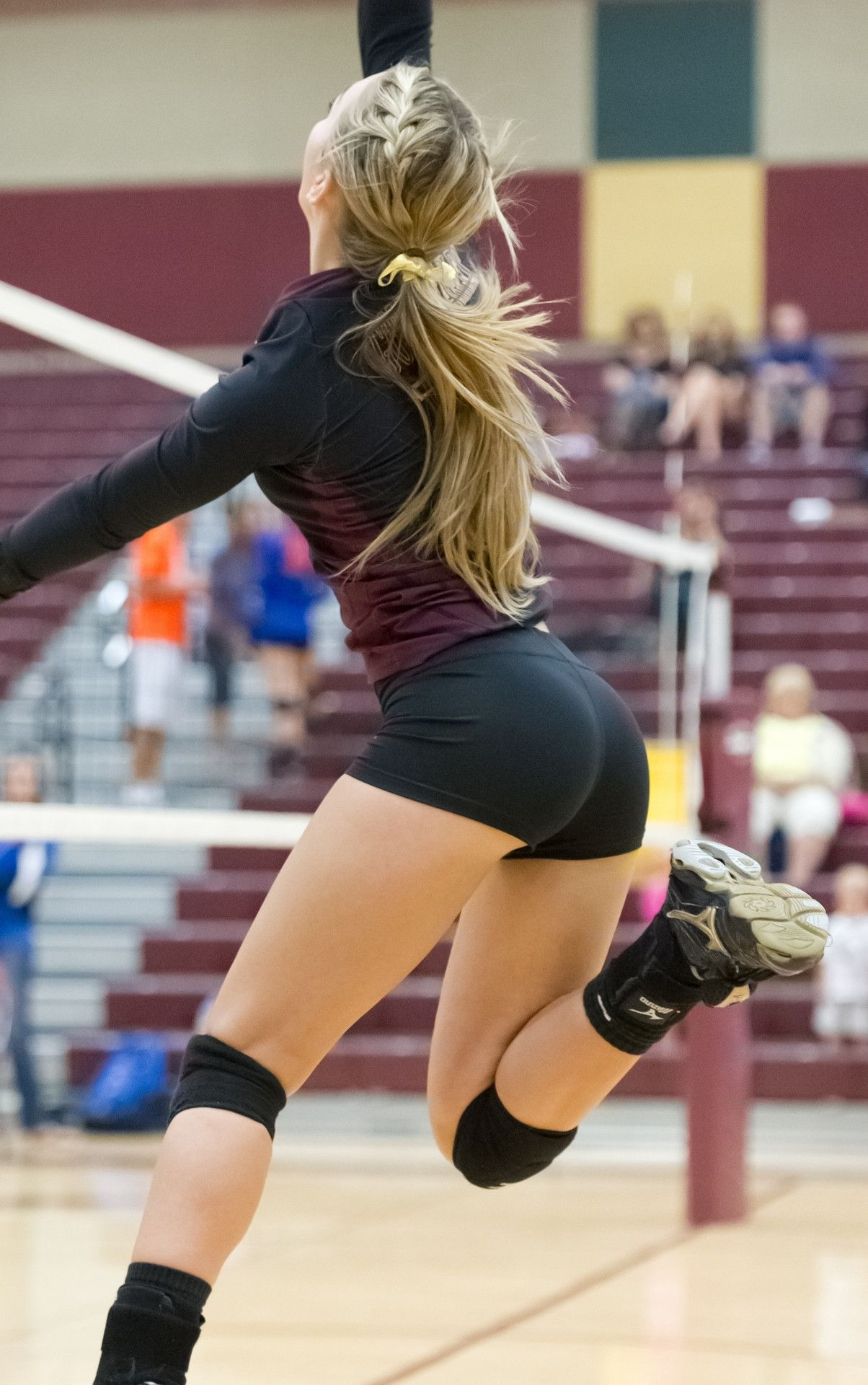 Sexy blonde volleyball player