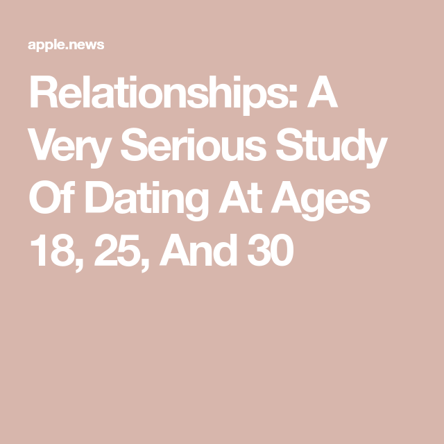 Dating klo 18 25 30