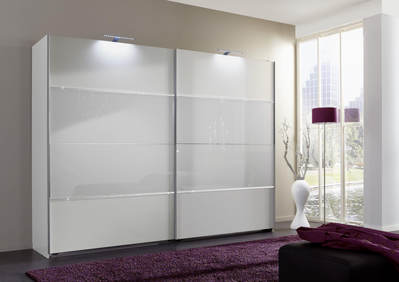 armoire coulissante adulte coloris blanc strass et verre. Black Bedroom Furniture Sets. Home Design Ideas