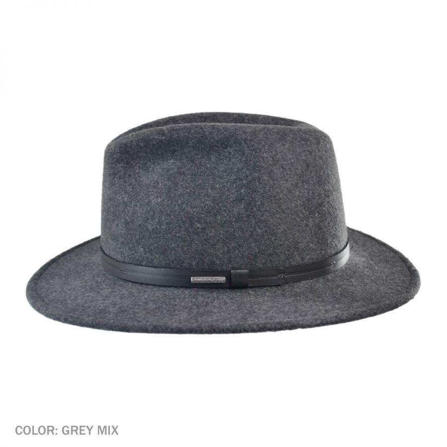 04c1190add8f2 Stetson Explorer Crushable Fedora Hat (grey)