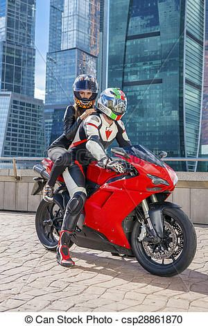 Pretty Girl On Racing Motorcycle Ducati 1299 Panigale Wallpaper