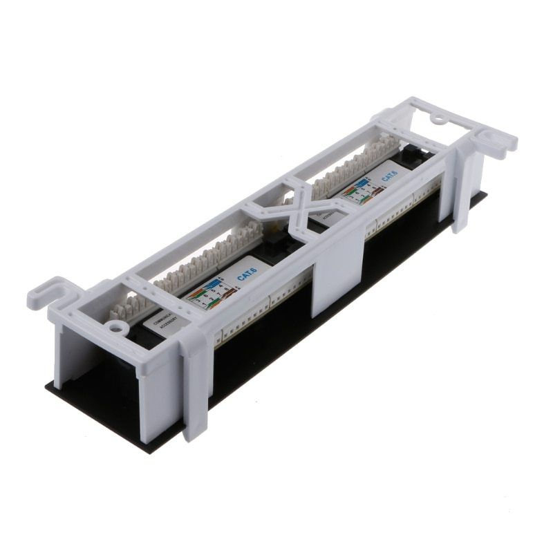 Network Tool Kit 12 Port Cat6 Patch Panel Rj45 Networking Wall Mount Rack Mount Bracket Network Tool Port Cat6 Wall Mount Rack Patch Panel Network Tools