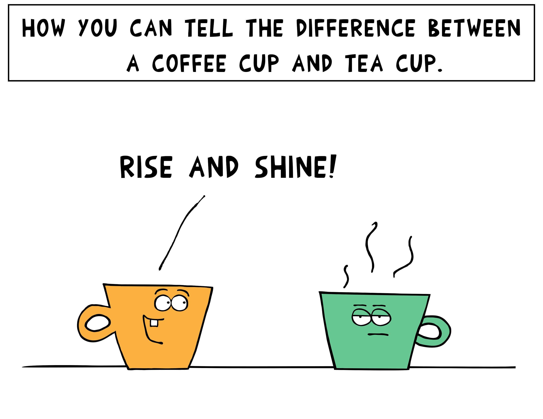 The Tea cup and the Coffee mug joke   Etsy   Tea cups, Coffee mugs, Mugs