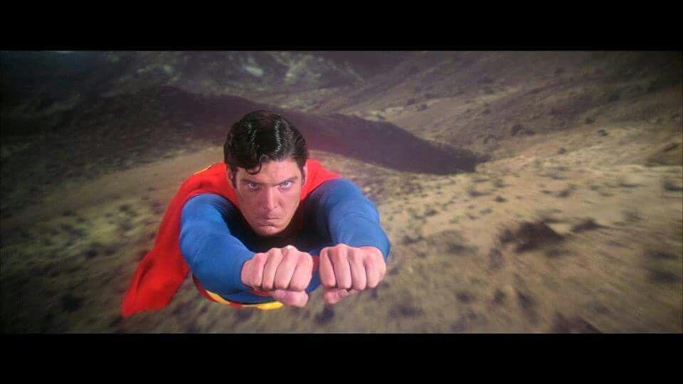 Superman looks pist