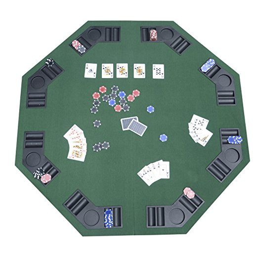 Homcom 1.2m/48 Inches Foldable Poker Table Top 8 Players Blackjack Tables  Casino Chip