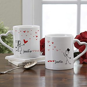 This Personalized Mug Set is a great idea for newlywed gift giving.