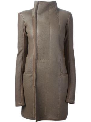 9df67ec6dd1d7 Rick Owens ~ Funnel Neck Coat Designer Coats for Women 2014 - Farfetch