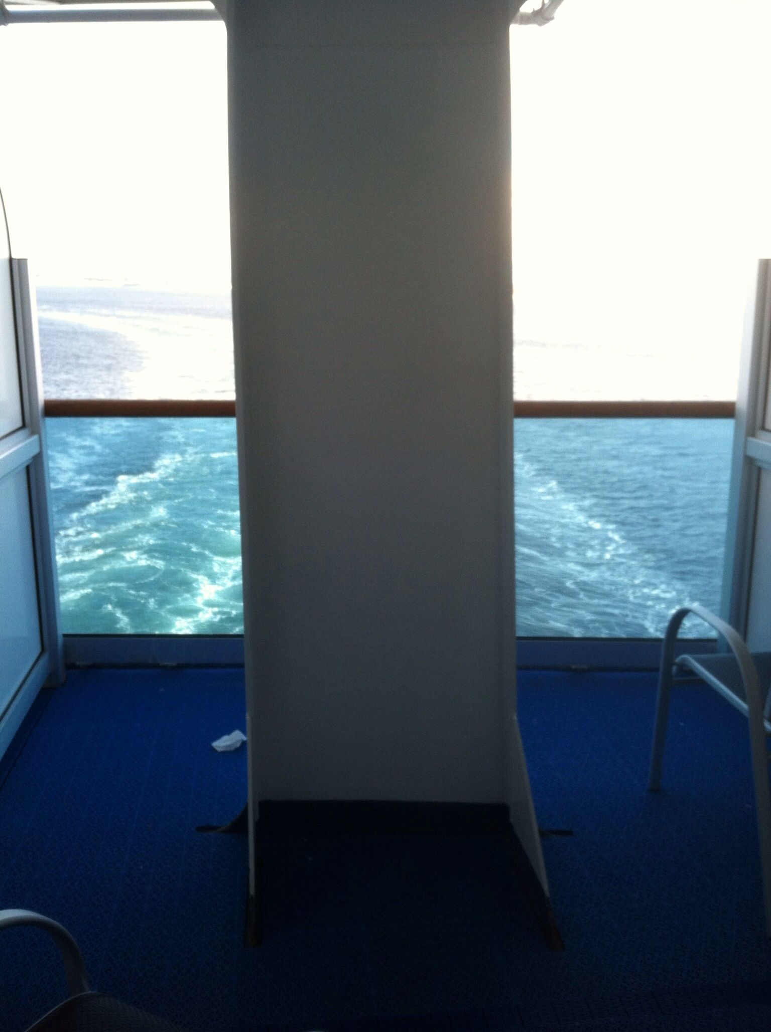 Stateroom B750 balcony Caribbean Princess Even with