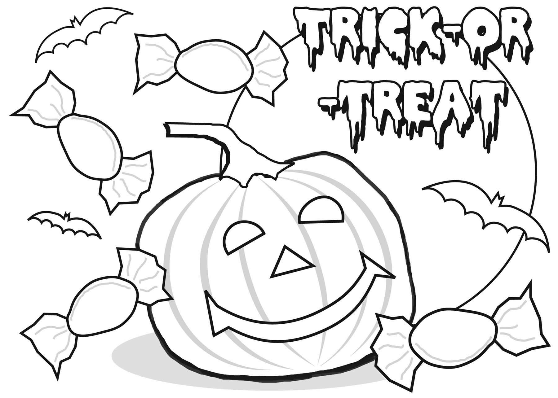 Graceful Halloween Coloring Pages