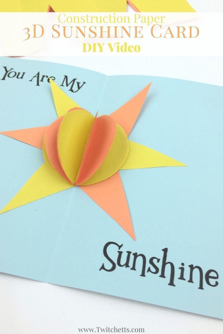 Construction Paper 3d Sunshine Card Video Party Time