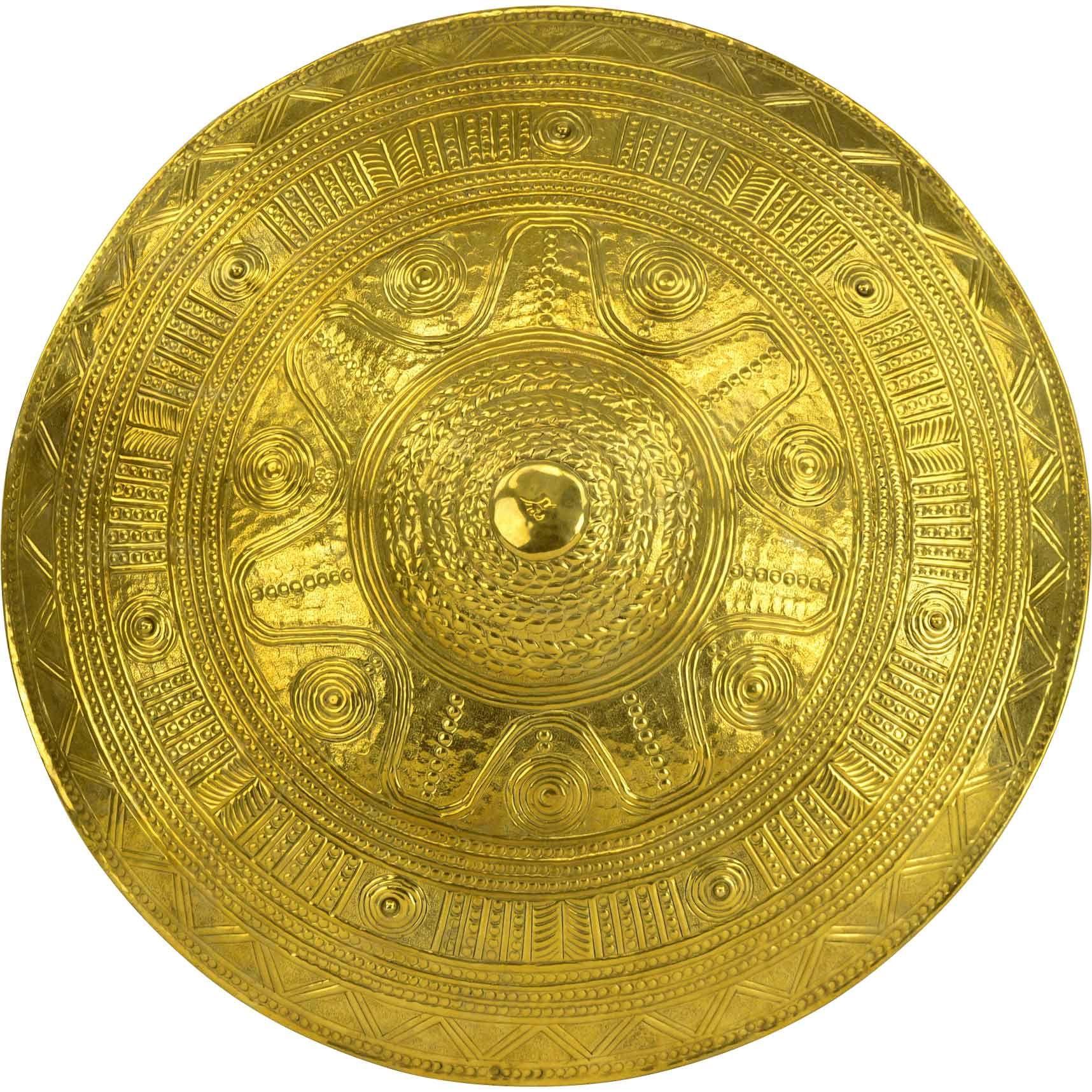 Brass Cross Greek Knight Heater Shield Made From Steel Size 28