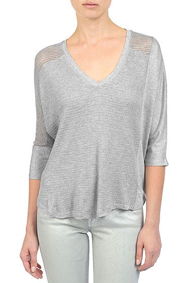 The Patchwork Circle Top - Heather Grey