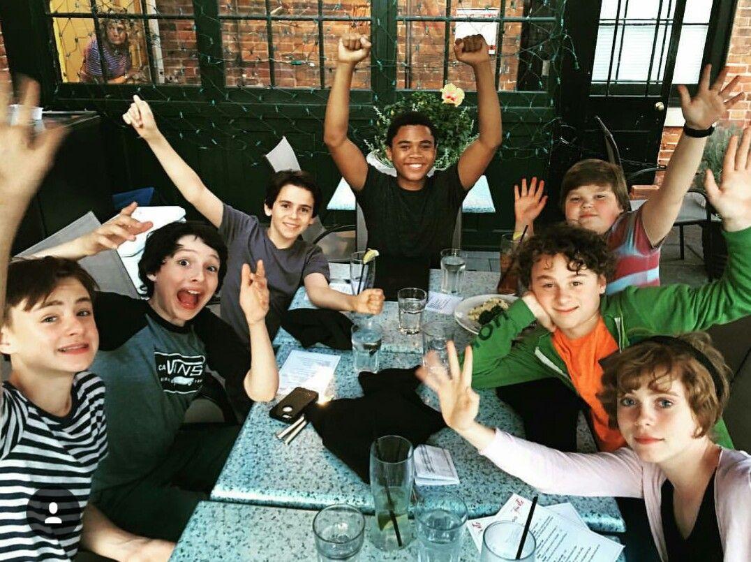 Image result for Finn Wolfhard (Richie), Sophia Lillis (Beverly), Jaeden Lieberher (Bill), Jack Dylan Grazer (Eddie), Wyatt Oleff (Stanley), Jeremy Ray Taylor (Ben), Chosen Jacobs (Mike), It