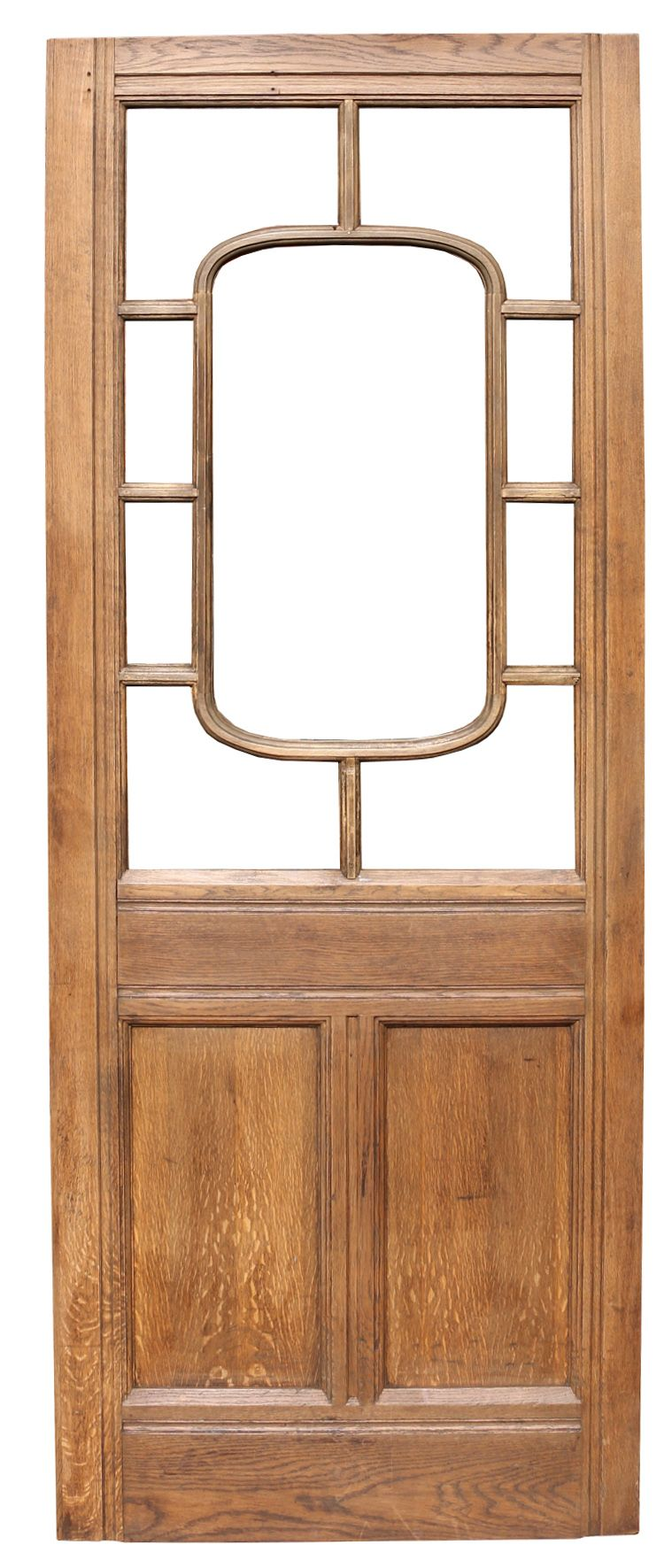 This interior solid oak door does not currently have glazing. Height 233 cm Width 91 & This interior solid oak door does not currently have glazing. Height ...