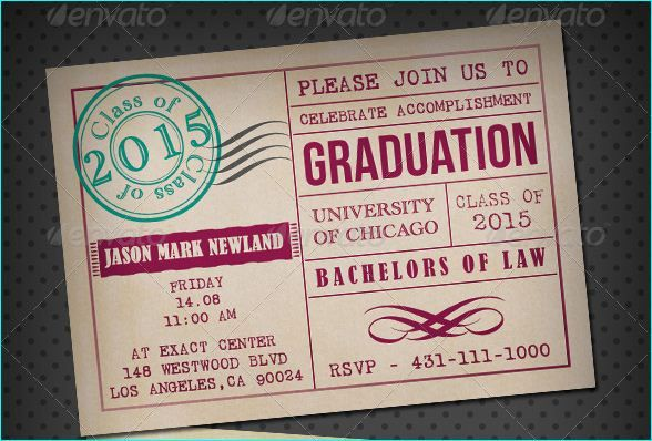 Graduation Party Invitation Psd For The Class Of