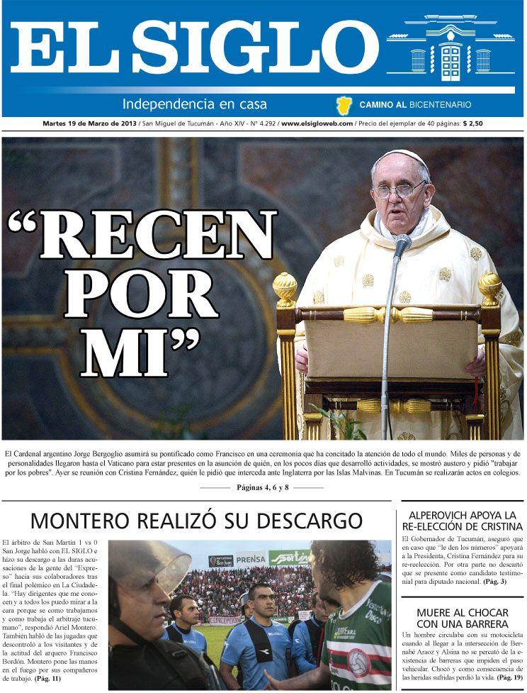 Diario El Siglo - Martes 19 de Marzo de 20 13
