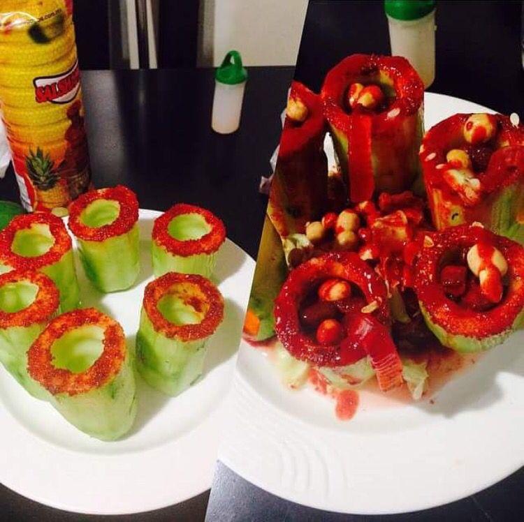 Pepinos Preparados Llena Tu Loko Mexican Food Yummy Food