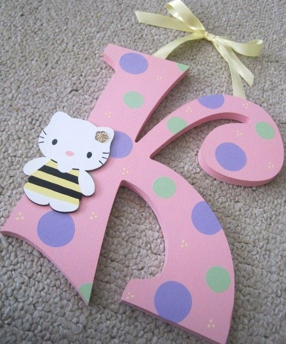 Hello Kitty Wall Decor....J For Juliana Or G For Gamboa (