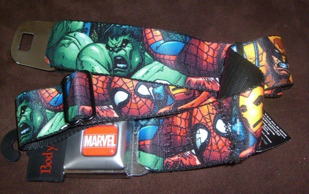 Avengers Hulk Iron Man Thor Buckle-Down Belt Marvel Comics ADJUSTABLE NEW 0174