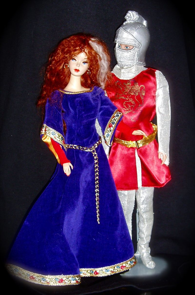 little theatre costumes king arthur and guinevere barbie