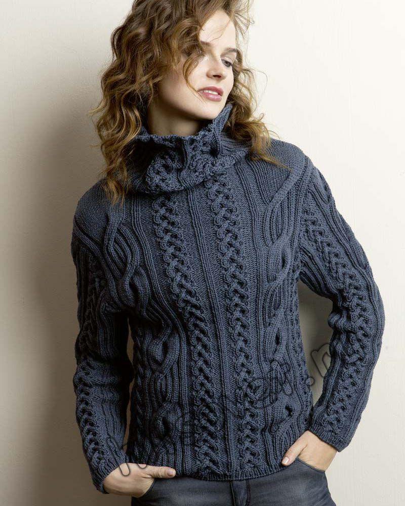 Вязание спицами женский свитер схема и описание фото 22