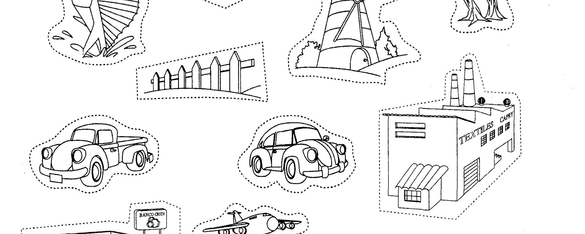 Comunidad Dibujo Para Colorear: Imagenes De Comunidad Urbana Y Rural Para Colorear Imagui