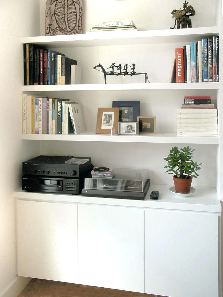 Songmics Set Of 3 Floating Wall Storage Shelves Alcove Shelves ...
