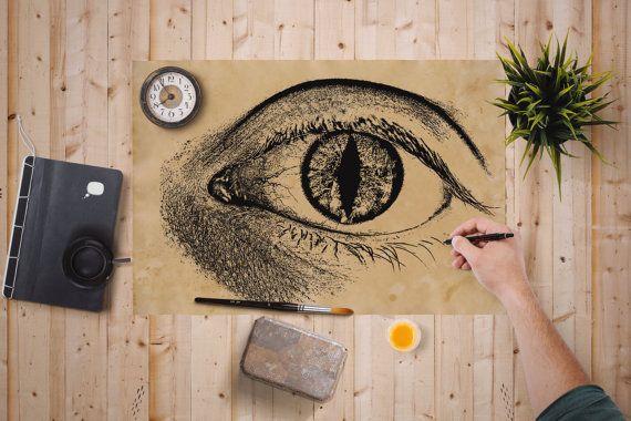 Anatomy Print Human Cat Eye Poster Medical Decor 10free Shipping