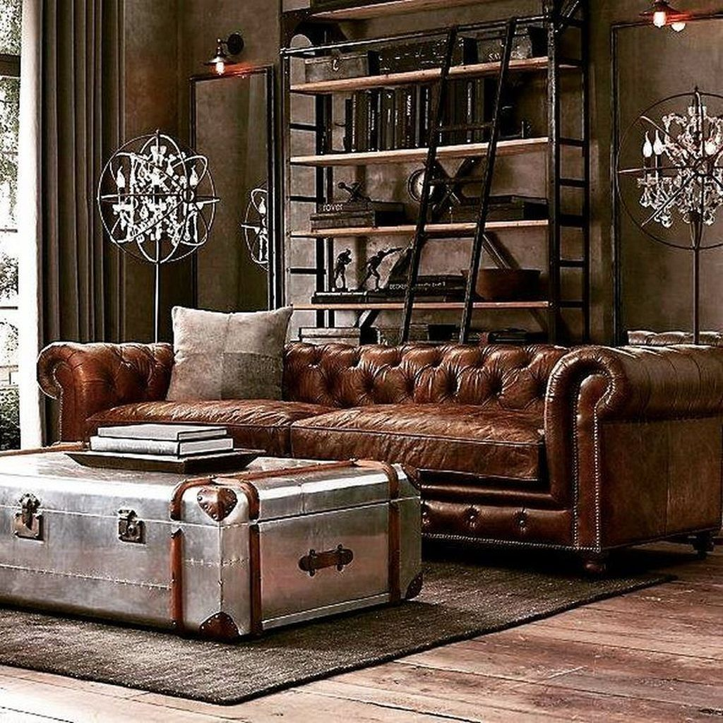 20 classy industrial rustic living room design youve