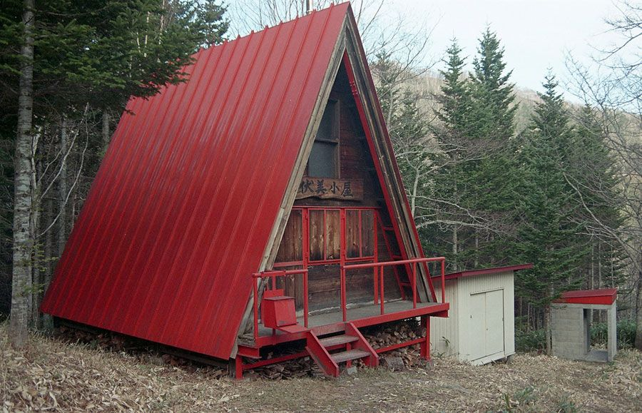 Small Red A Frame Hut Tiny House Swoon Kids play den
