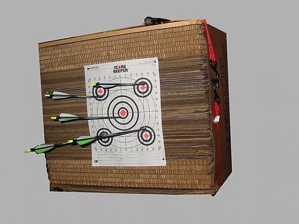 Cardboard Target Diy Archery Target Archery Target Diy Bow