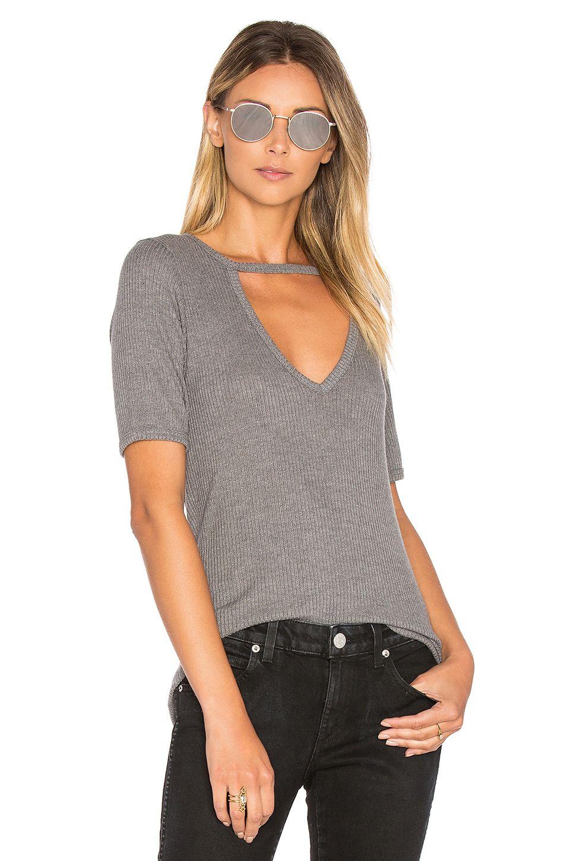 57ef7dfc02747 LNA Ribbed Cutout V Tee.  lna  cloth  dress  top  shirt  pant  coat  jecket   jacket  shorts  ski