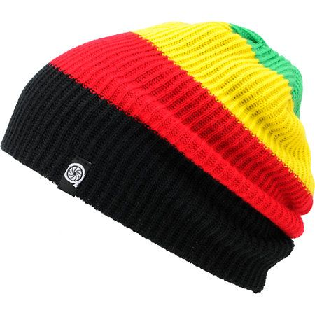9112a808c66 Keep the good times rolling with the Rasta Juan knit beanie by Aperture.  Featuring green