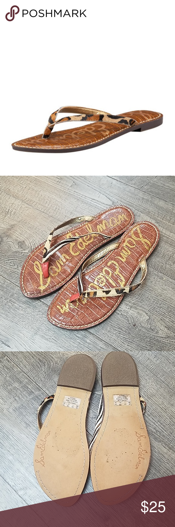 b786d9858 Sam Edelman Women s Gracie Flat Thong Sandal 9 Pre-owned in great shape.  Size 9 Sam Edelman Shoes Sandals