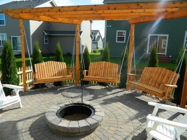 9 Exciting Porch Swings Fire Pit Design Ideas in 2020 | Cheap fire pit, Fire pit seating area ...
