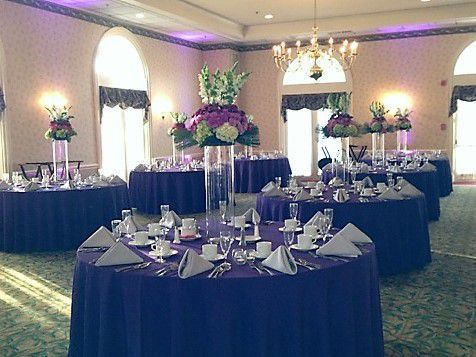 Wedding At The Manor Country Club Brides Color Was Purple White With A Touch