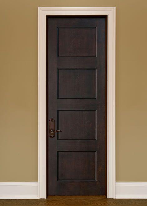 Artisan Mahogany Solid Wood Front Entry Door Single