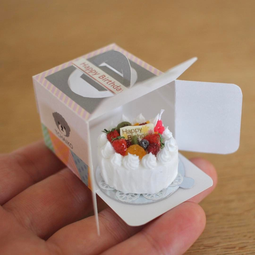 Barbie 1:6 Miniature Kitchen Food Box of Strawberry Rolls