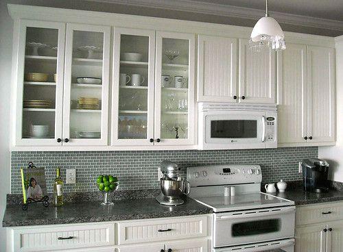 Ocean 1x2 Mini Glass Subway Tile Kitchen Remodel Kitchen Tiles