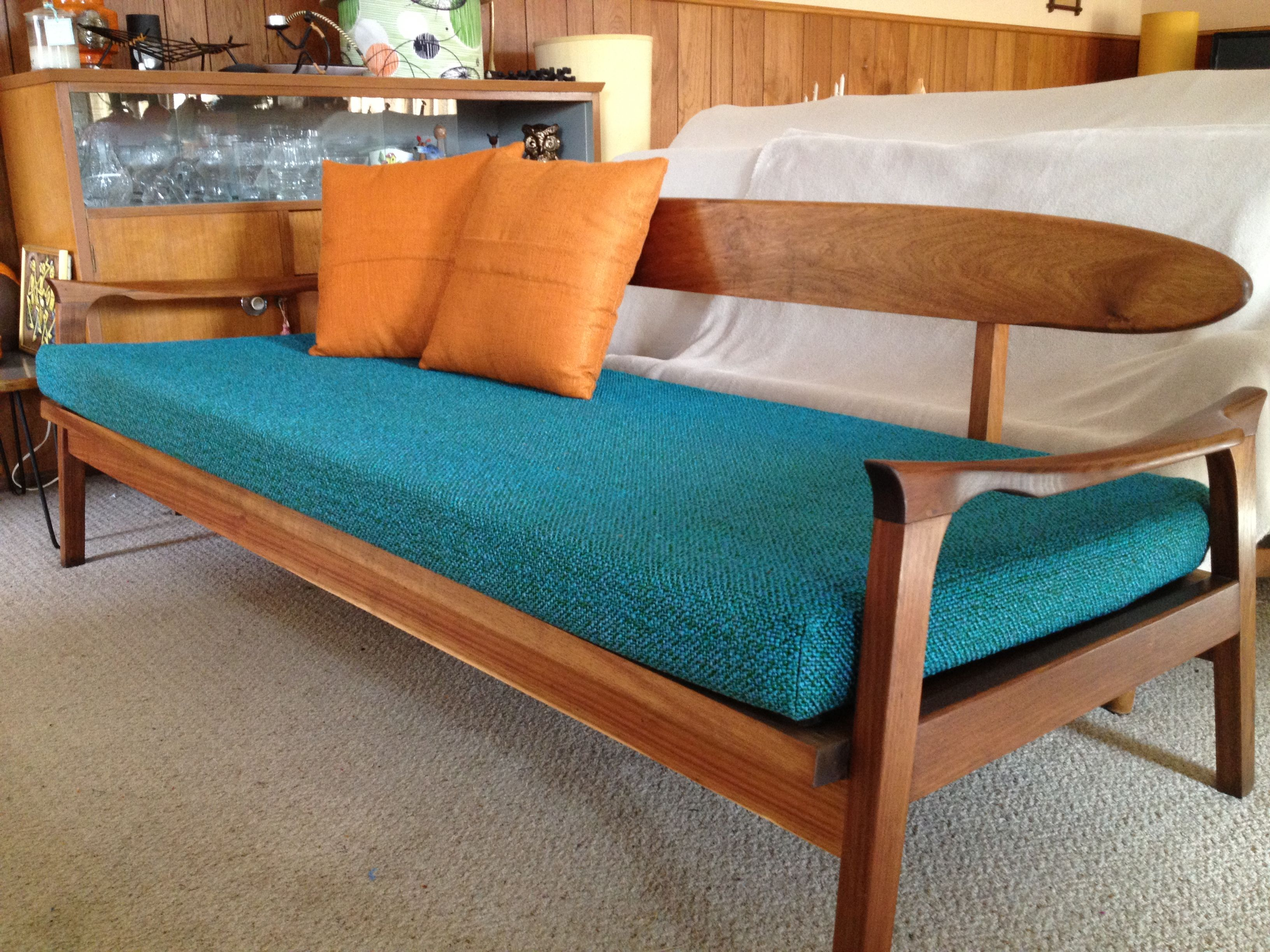 Mid Century Daybed as Sofa in Formal